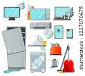 modern flat home appliances... | Shutterstock .eps vector #1227070675