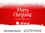 red christmas background.... | Shutterstock .eps vector #1227074242
