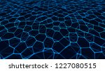 network connection structure.... | Shutterstock . vector #1227080515