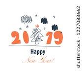 merry christmas   happy new... | Shutterstock .eps vector #1227083662