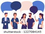 flat design trendy color vector ...   Shutterstock .eps vector #1227084145