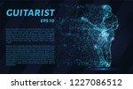 guitarist blue points of light. ...   Shutterstock .eps vector #1227086512