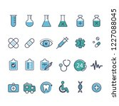 set of medical icons | Shutterstock .eps vector #1227088045