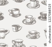 seamless pattern of different... | Shutterstock .eps vector #1227088525