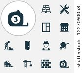 building icons set with... | Shutterstock .eps vector #1227090058