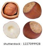 isolated on white hazelnut.... | Shutterstock . vector #1227099928