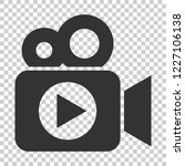 video camera icon in flat style.... | Shutterstock .eps vector #1227106138