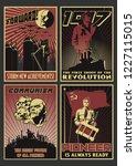 old soviet communism propaganda ... | Shutterstock .eps vector #1227115015
