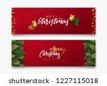 christmas vector background.... | Shutterstock .eps vector #1227115018