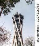 wooden and metal observation...   Shutterstock . vector #1227116068