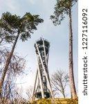 wooden and metal observation...   Shutterstock . vector #1227116092