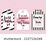 vector fashion tags with lashes ... | Shutterstock .eps vector #1227126268