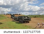 military ground alabino  moscow ... | Shutterstock . vector #1227127735