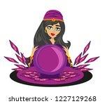 fortune teller woman   Shutterstock . vector #1227129268