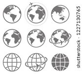 earth icon collection. globe.... | Shutterstock .eps vector #1227130765