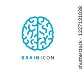 human brain vector logo... | Shutterstock .eps vector #1227131038