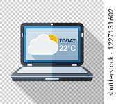 laptop icon in flat style with... | Shutterstock .eps vector #1227131602