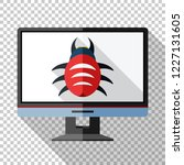 monitor icon in flat style with ... | Shutterstock .eps vector #1227131605