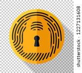 touch id fingerprint icon in... | Shutterstock .eps vector #1227131608