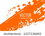 paint banner. brush stroke.... | Shutterstock .eps vector #1227136042