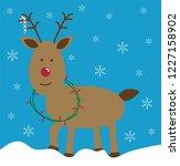 merry christmas reindeer | Shutterstock .eps vector #1227158902