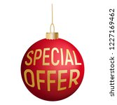 special offer tree red ball... | Shutterstock .eps vector #1227169462