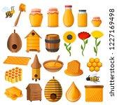 honey icon set. cartoon set of... | Shutterstock .eps vector #1227169498