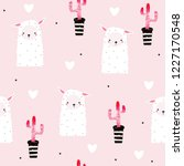 seamless pattern with cute... | Shutterstock .eps vector #1227170548