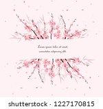 vector illustration sakura... | Shutterstock .eps vector #1227170815