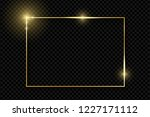 gold shiny glowing vintage... | Shutterstock .eps vector #1227171112