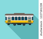 city old tram icon. flat... | Shutterstock .eps vector #1227181228