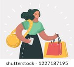 vector cartoon illustration of... | Shutterstock .eps vector #1227187195
