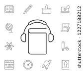audio book icon. simple element ... | Shutterstock . vector #1227188212