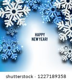 merry christmas  greeting... | Shutterstock .eps vector #1227189358