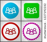 vector icons with 4 options....   Shutterstock .eps vector #1227192232