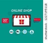 flat design banner of buy... | Shutterstock .eps vector #1227195118