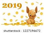 cute piggy bank. cartoon... | Shutterstock .eps vector #1227196672