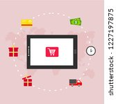 online shop marketplace with... | Shutterstock .eps vector #1227197875