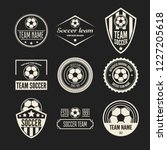 set of football or soccer club... | Shutterstock .eps vector #1227205618