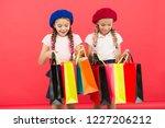 kids cute schoolgirls hold... | Shutterstock . vector #1227206212