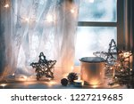 merry christmas and happy... | Shutterstock . vector #1227219685
