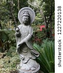 stone statue buddha.madeira ... | Shutterstock . vector #1227220138