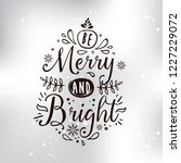 merry christmas. typography.... | Shutterstock .eps vector #1227229072