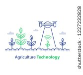 agriculture technology  smart... | Shutterstock .eps vector #1227232828