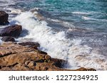 waves of the atlantic ocean... | Shutterstock . vector #1227234925