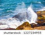 waves of the atlantic ocean... | Shutterstock . vector #1227234955