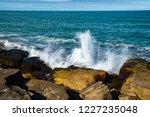 waves of the atlantic ocean... | Shutterstock . vector #1227235048