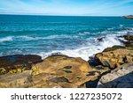 waves of the atlantic ocean... | Shutterstock . vector #1227235072