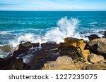 waves of the atlantic ocean... | Shutterstock . vector #1227235075