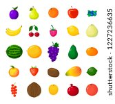 set of colorful cartoon fruit... | Shutterstock .eps vector #1227236635
